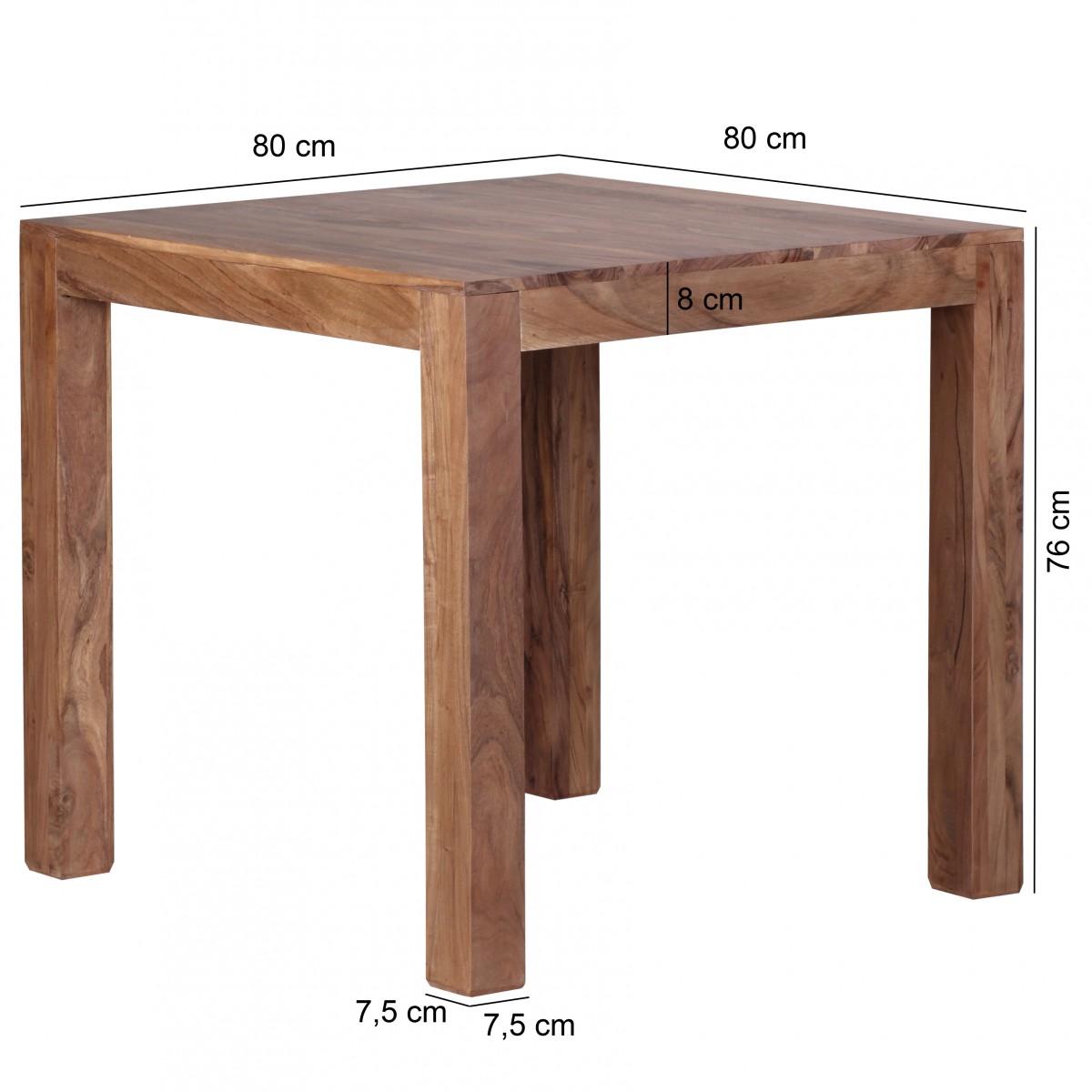 Wohnling design tavolo da pranzo quadrato 80 x 80 cm di for Design esstisch x7
