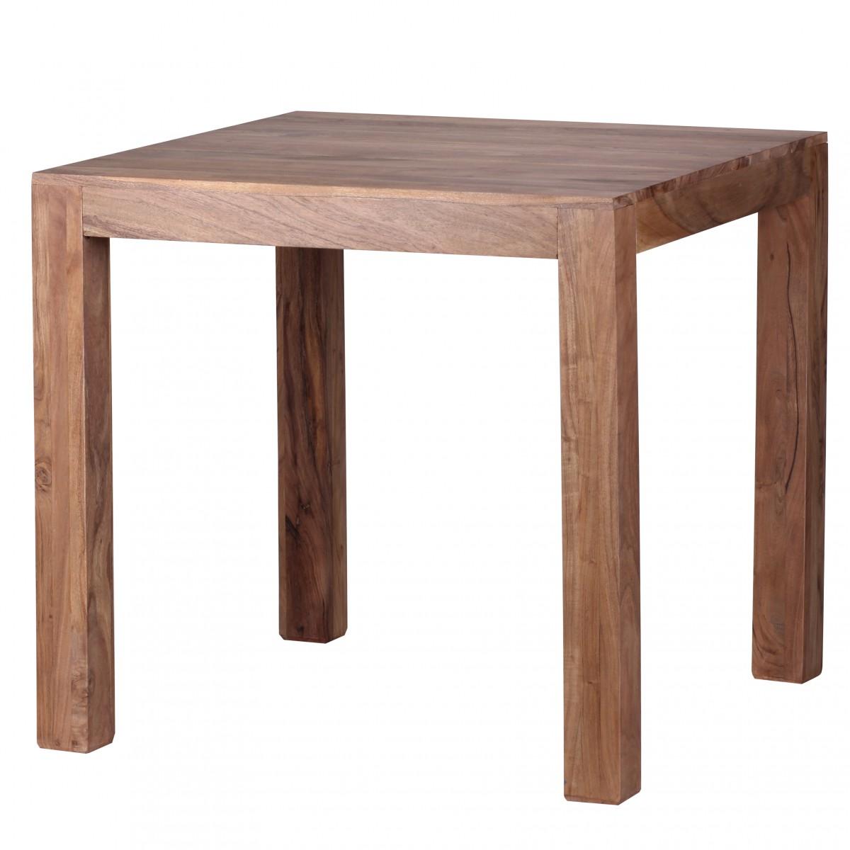 Wohnling conception table manger carr 80 x 80 cm acacia massif de feuillus - Table en acacia massif ...