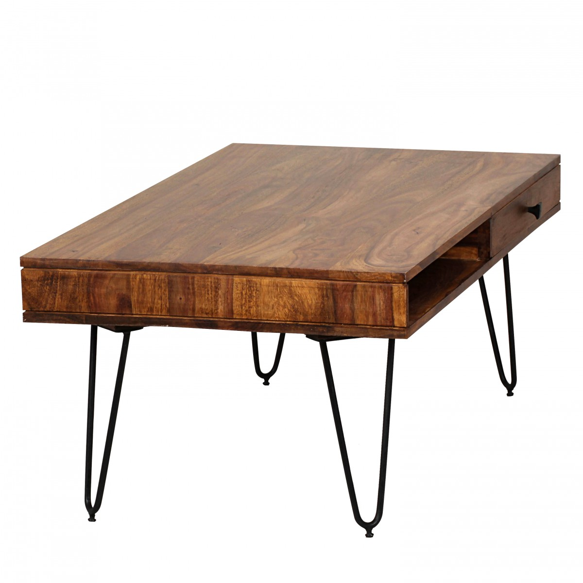 wohnling solid wood sheesham coffee table 120 x 60 x 40 cm