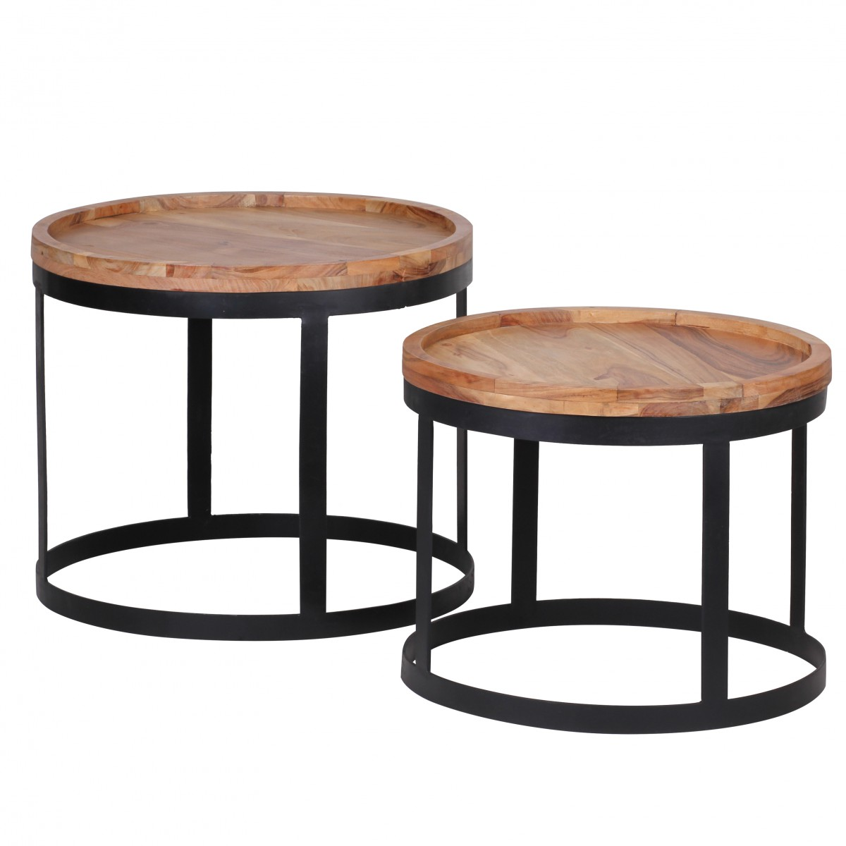 Solid wood living room side table set of 2 coffee tables new ebay