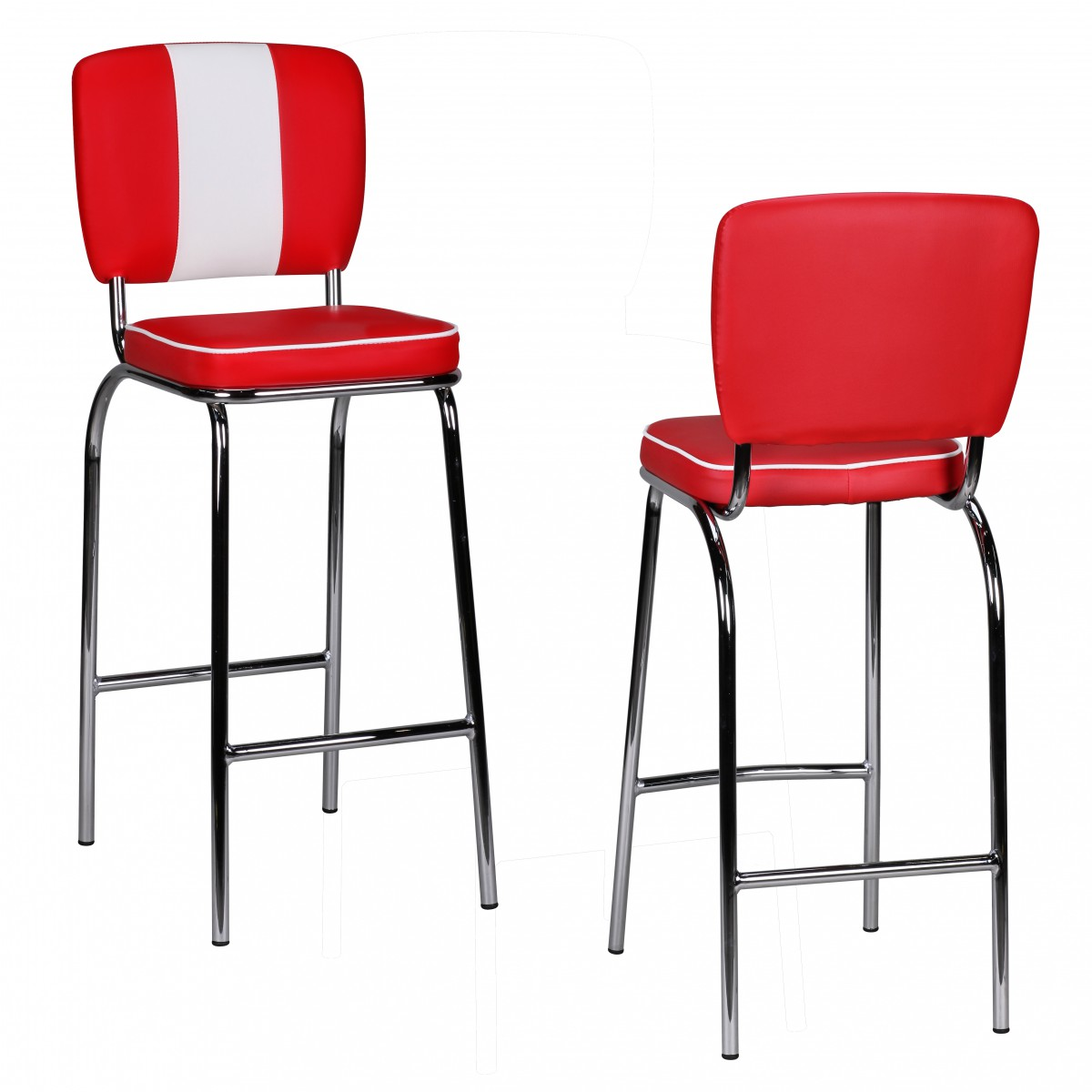 WOHNLING barstool American Diner 50s Retro Red White bar  : 39208 WOHNLING Barstuhl PAUL Diner rot WL1 718 WL7 from ebay.es size 1200 x 1200 jpeg 115kB