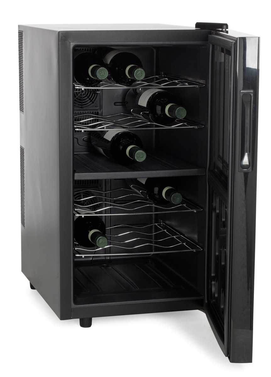 AMSTYLE WINE BEER 18 BOTTLE REFRIGERATOR 48l MINI BAR