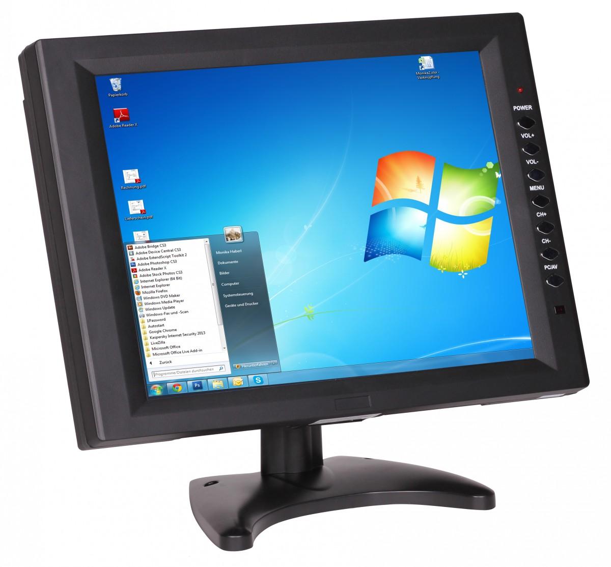 31cm 12 1 zoll lcd touchscreen monitor vga av usb 12. Black Bedroom Furniture Sets. Home Design Ideas