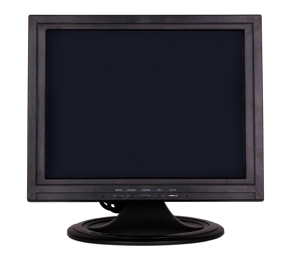 38cm 15 zoll lcd touchscreen monitor vga av usb schwarz. Black Bedroom Furniture Sets. Home Design Ideas