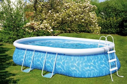 Gro er gartenpool aufblasbar pool mit leiter neu kuli ebay for Gartenpool ebay