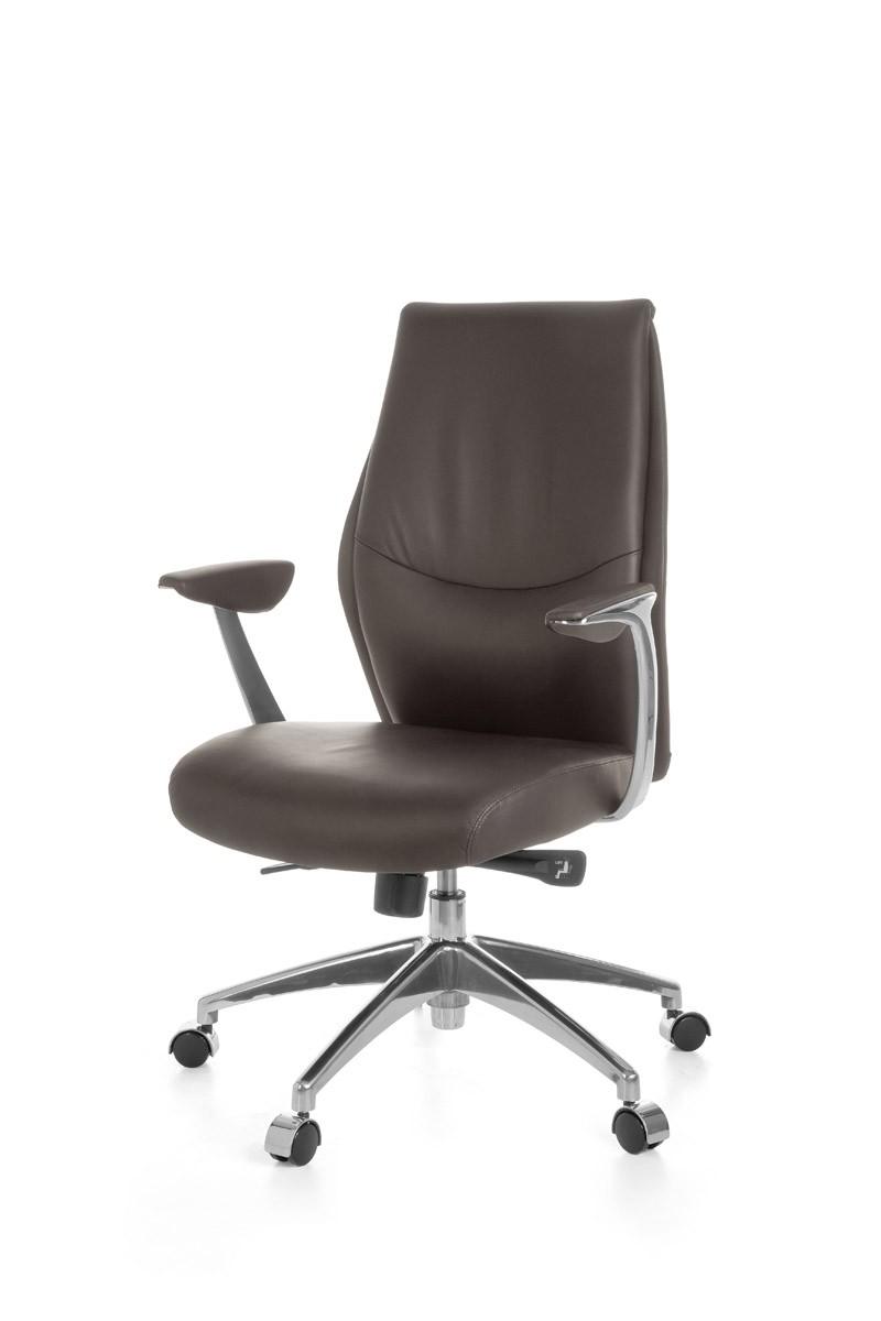 Amstyle chaise de bureau cuir brun r glable en hauteur 120kg fauteuil neuf - Fauteuil reglable en hauteur ...