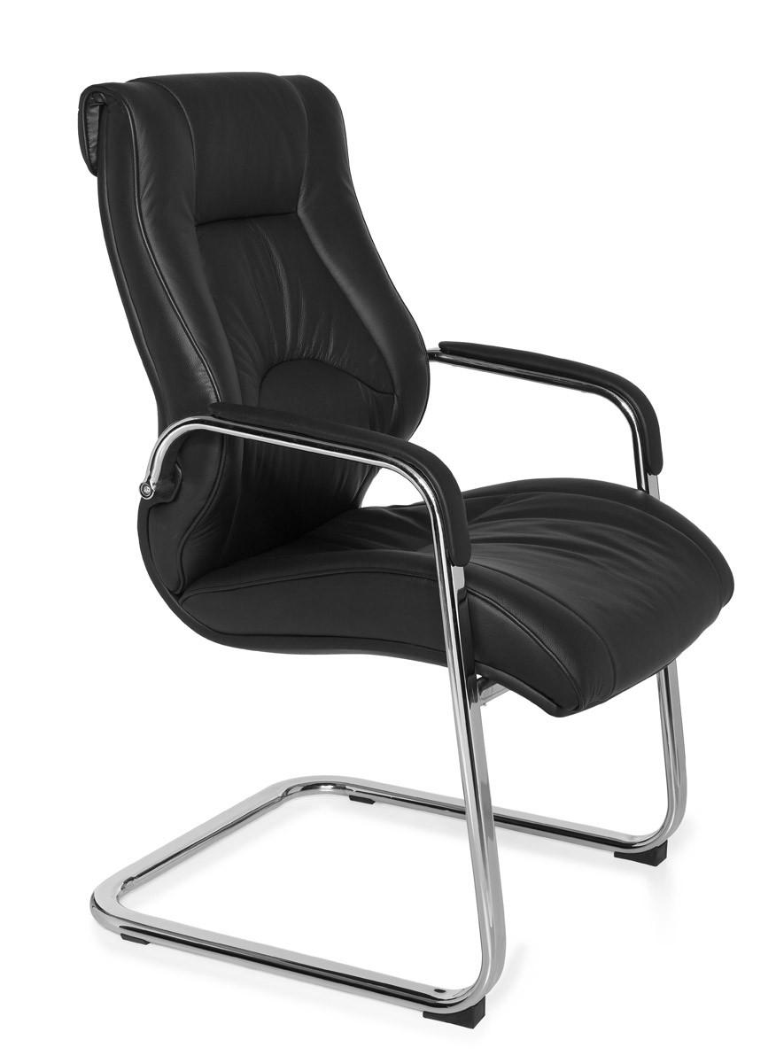 amstyle freischwinger rimini visitor echtleder. Black Bedroom Furniture Sets. Home Design Ideas