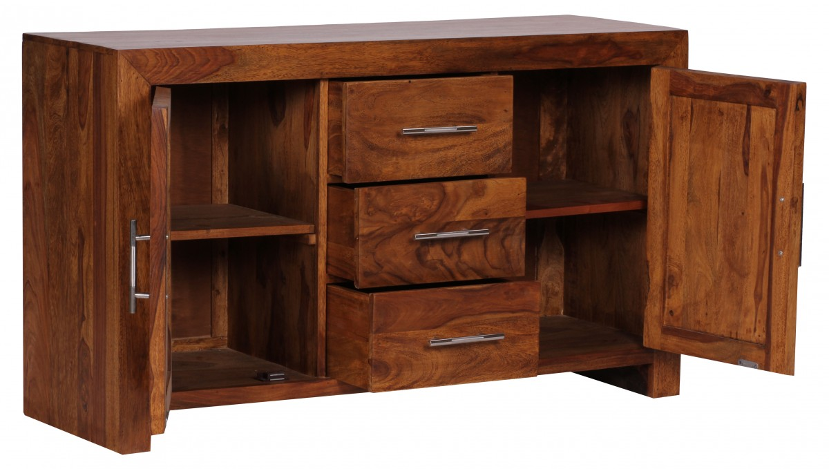 massivholz sideboard kommode schrank anrichte konsole teak. Black Bedroom Furniture Sets. Home Design Ideas
