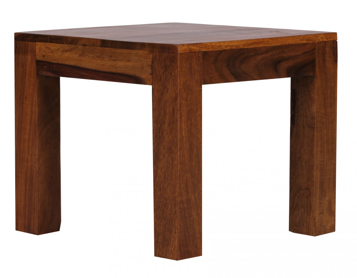wohnling sheesham couchtisch massiv 45 cm massivholz beistelltisch tisch neu ebay. Black Bedroom Furniture Sets. Home Design Ideas