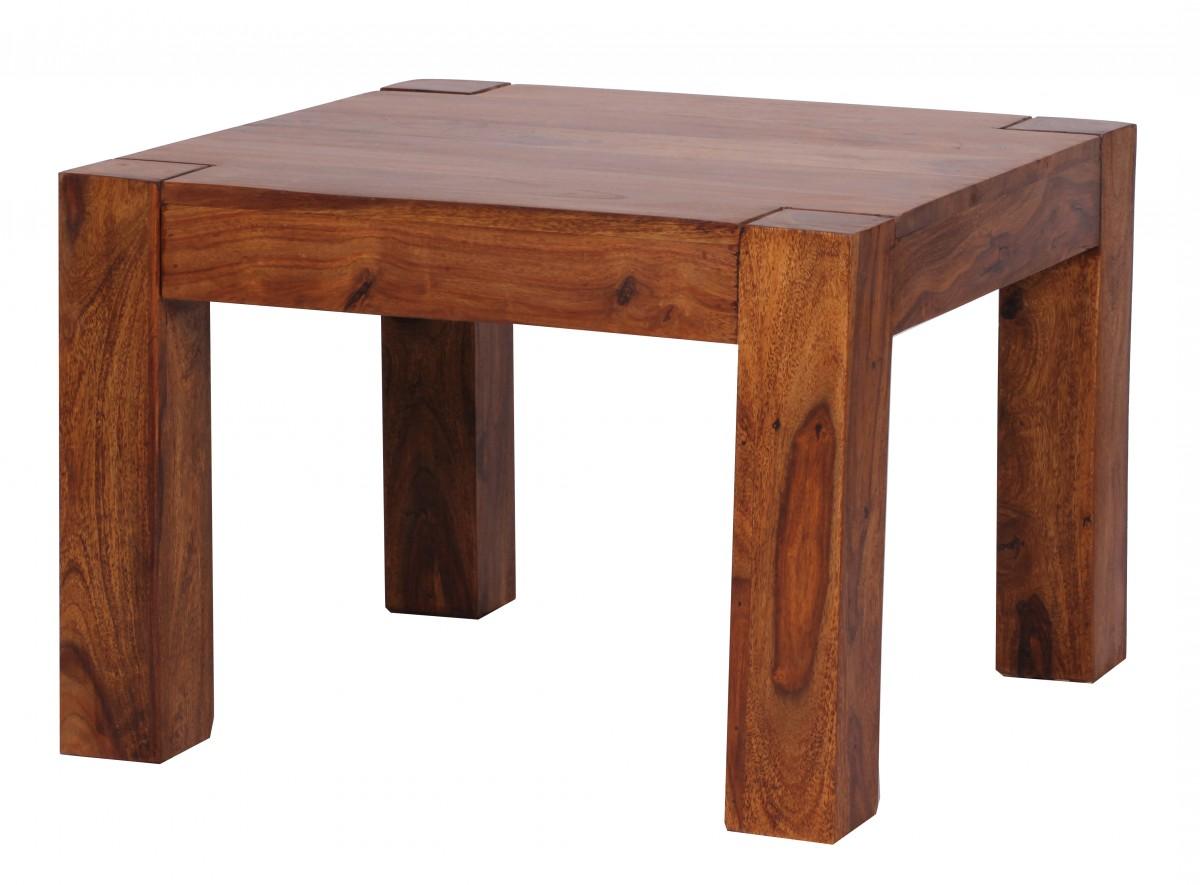 Wohnling petit table basse salon desserte d 39 appoint bois massif 60 x 60 c - Table basse hauteur 60 cm ...