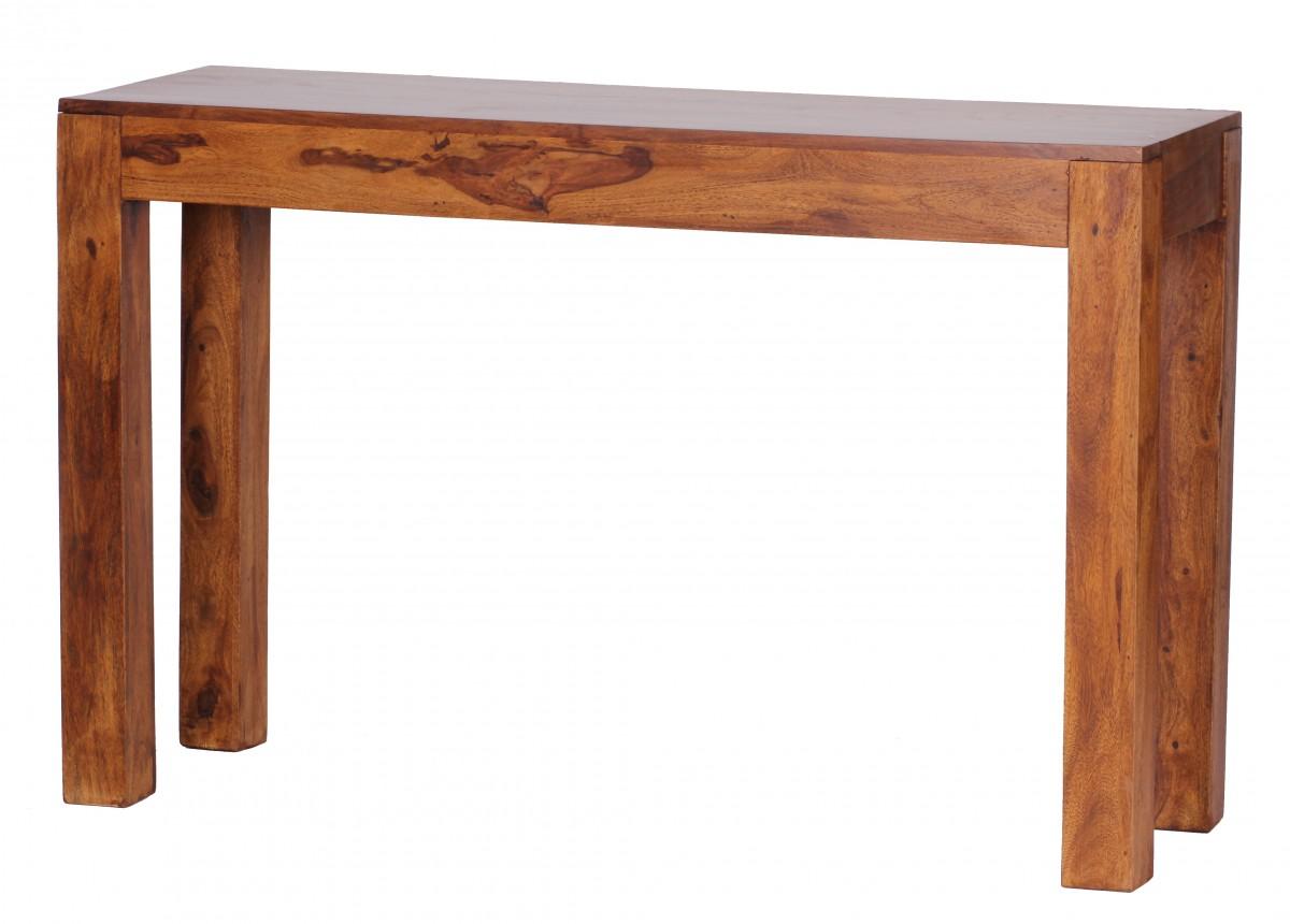 Wohnling palissandre table console solides 120 cm avec 1 - Table console avec tiroir ...
