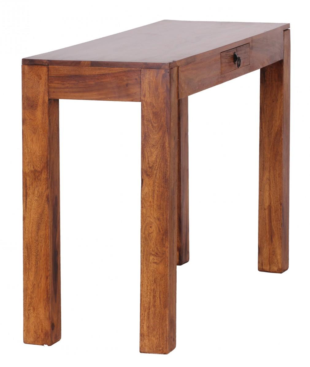 Wohnling palissandre table console solides 120 cm avec 1 for Table console avec tiroir