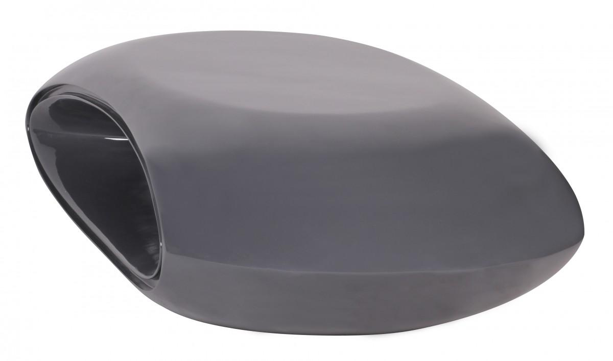 WOHNLING Deisgn Couchtisch Shape 140 cm grau Hochglanz