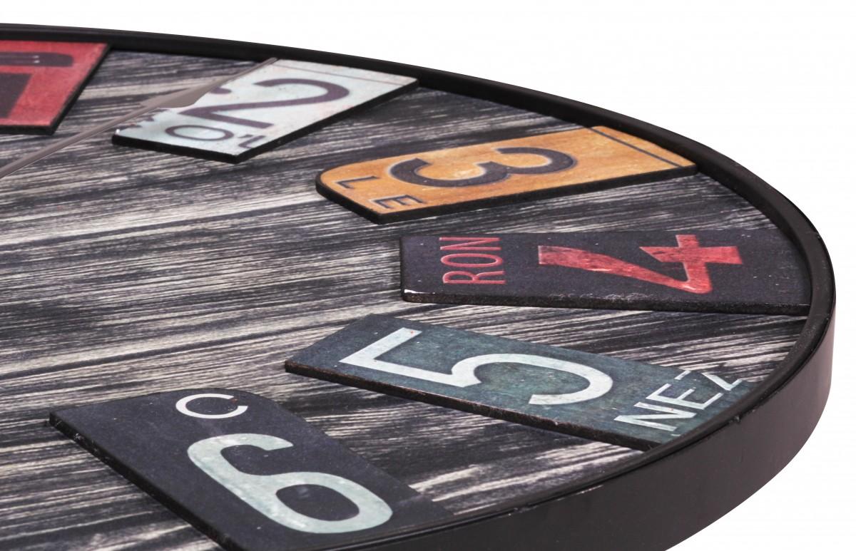 Wohnling big time design horloge murale 60 cm avec en look vintage neuf ebay - Horloge murale 60 cm ...