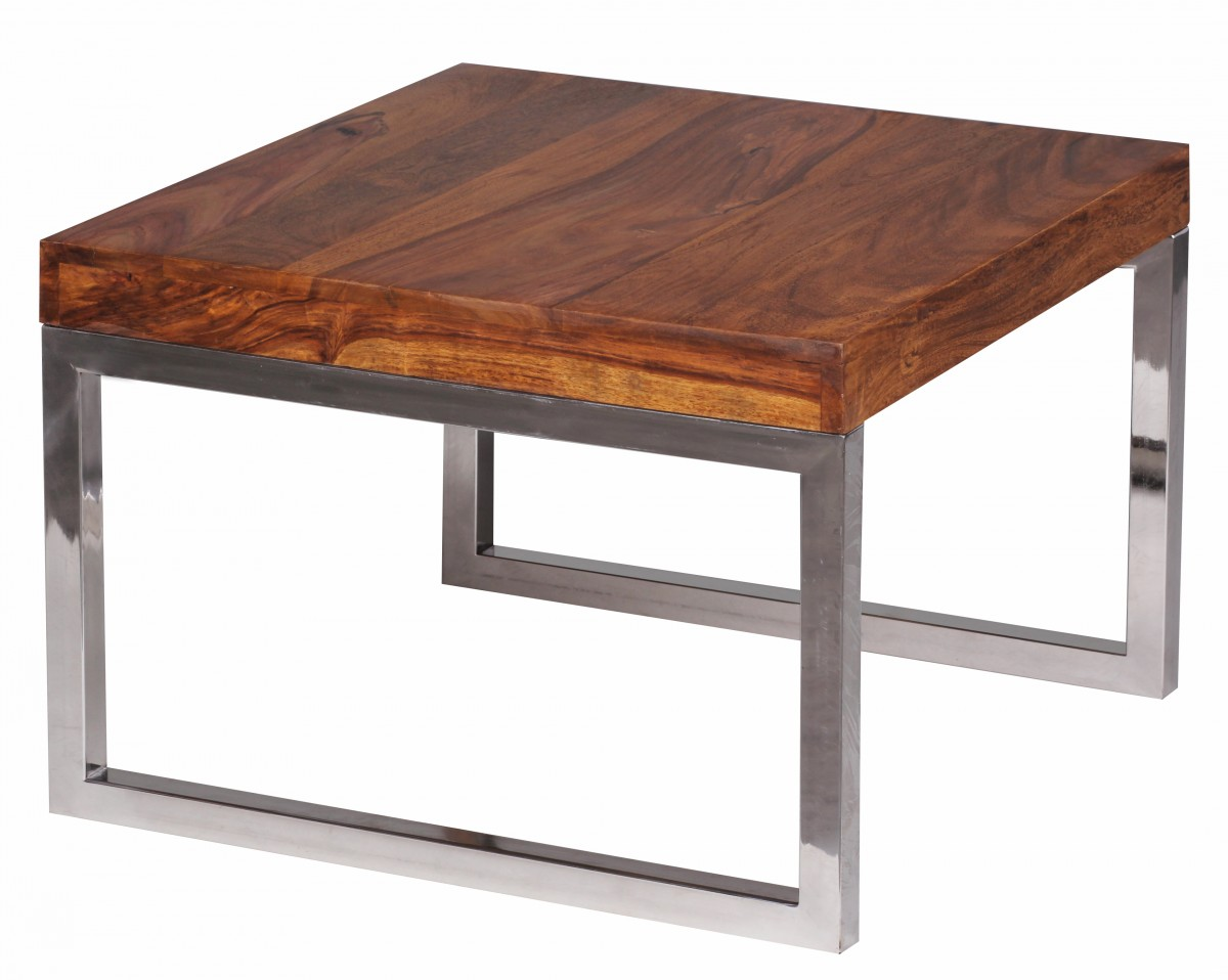 Wohnling sheesham side coffee table massive 60 x 60 cm for Coffee table 60 x 40