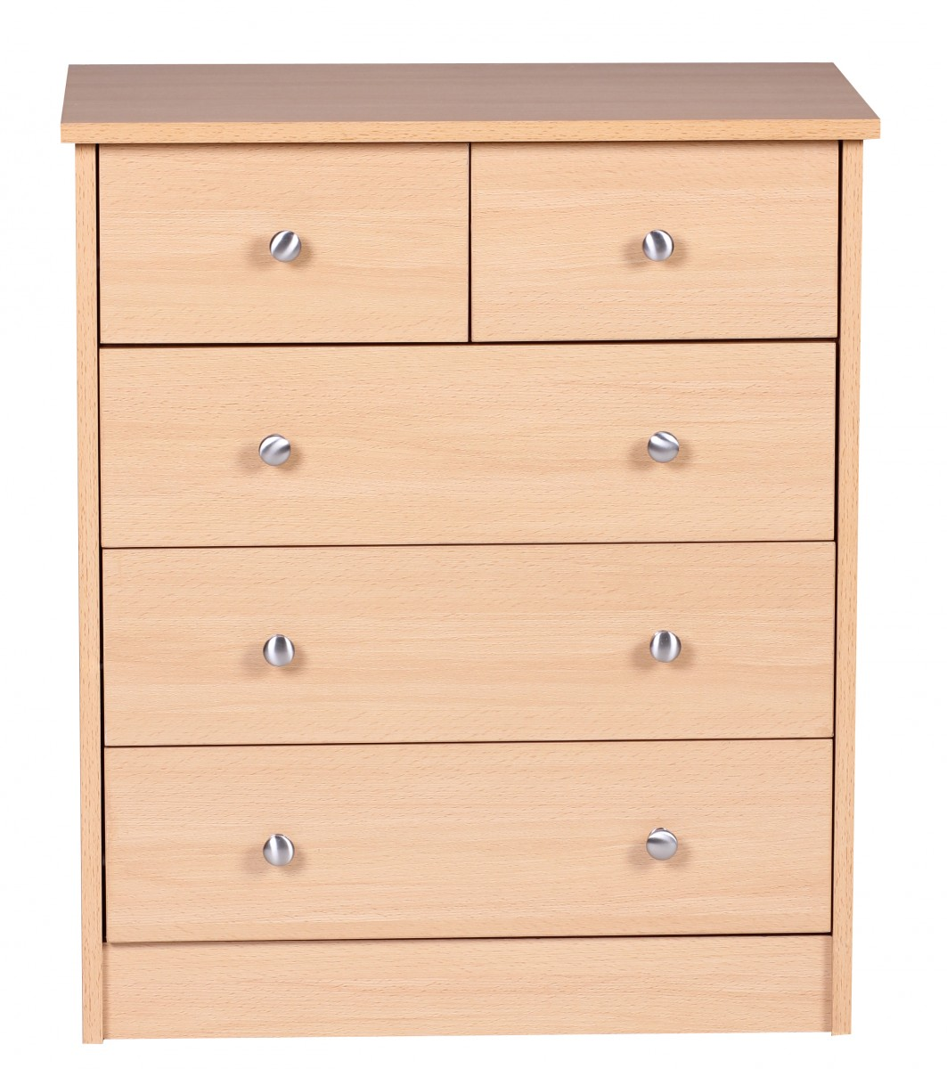 beech chest of drawers sideboard 5 drawers cupboard buffet storage new. Black Bedroom Furniture Sets. Home Design Ideas