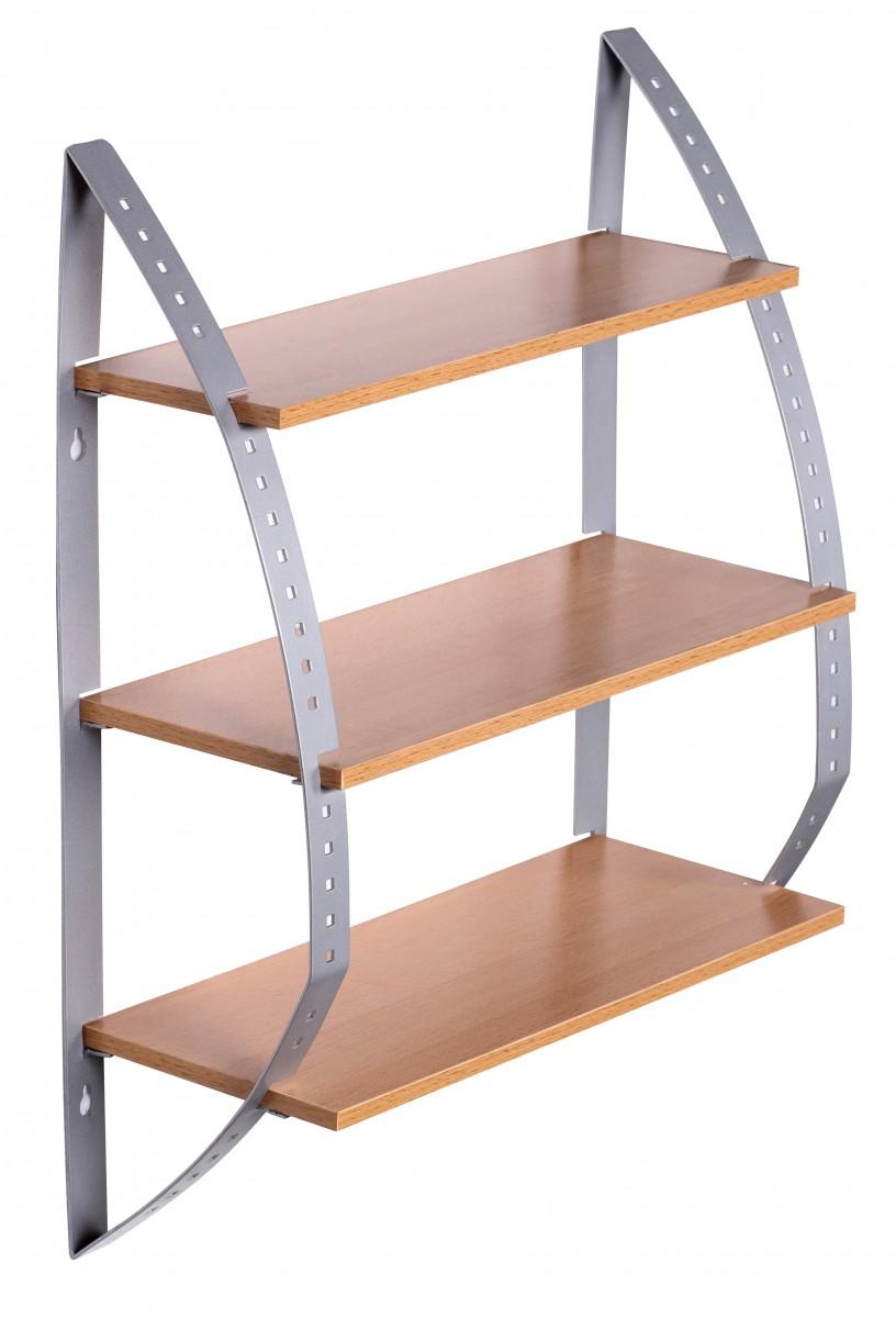 wohnling wandregal buche 40 x 15 x 50 cm 3 b den. Black Bedroom Furniture Sets. Home Design Ideas