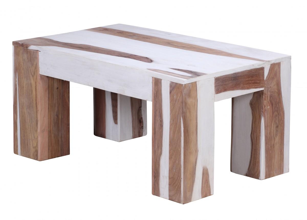 Wohnling sbiancato sheesham legno massello tavolino - Mobili soggiorno legno massello ...