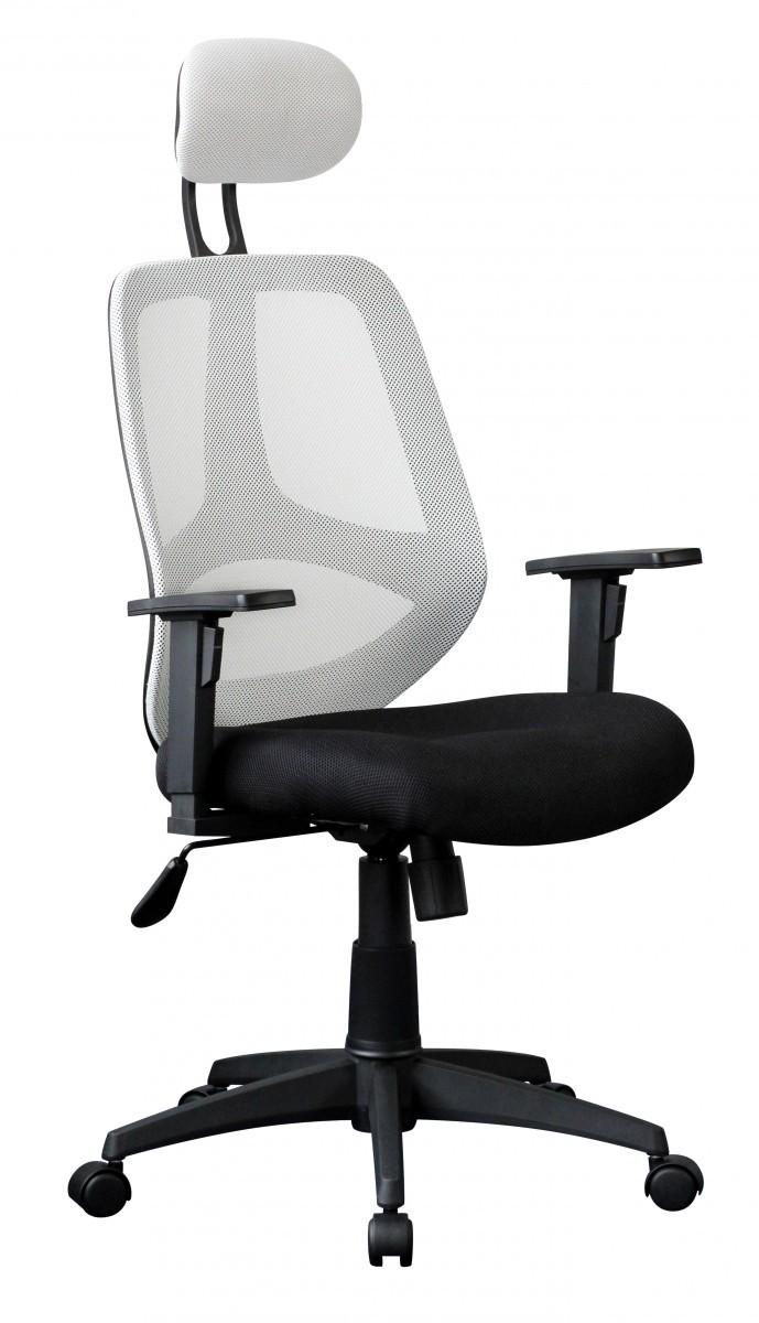 moderner chefsessel stoff netz wei schwarz b rostuhl drehstuhl sessel neu ebay. Black Bedroom Furniture Sets. Home Design Ideas