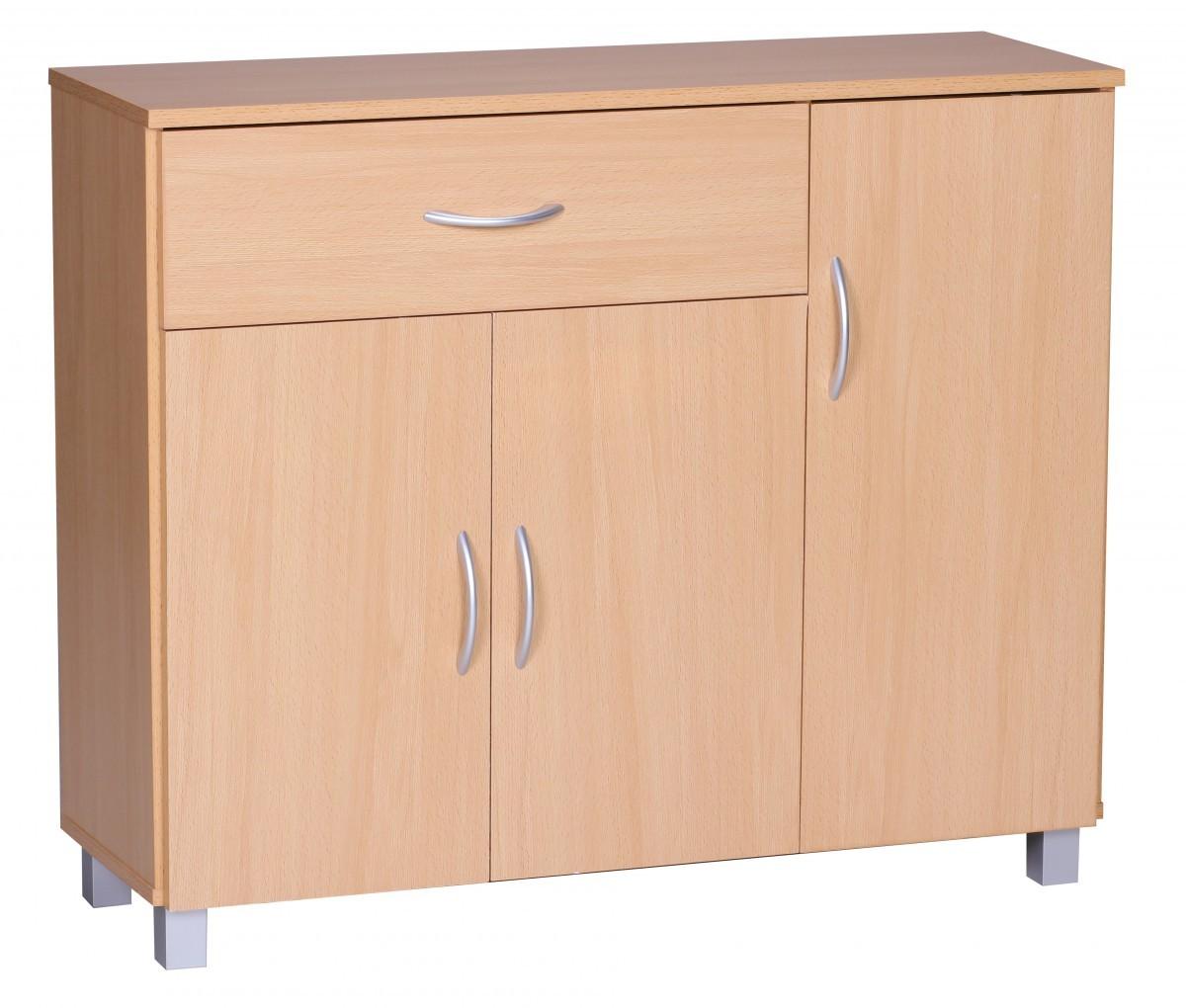 Wow sideboard buche 90 x 75 cm 3 t ren 1 schublade for Sideboard buche