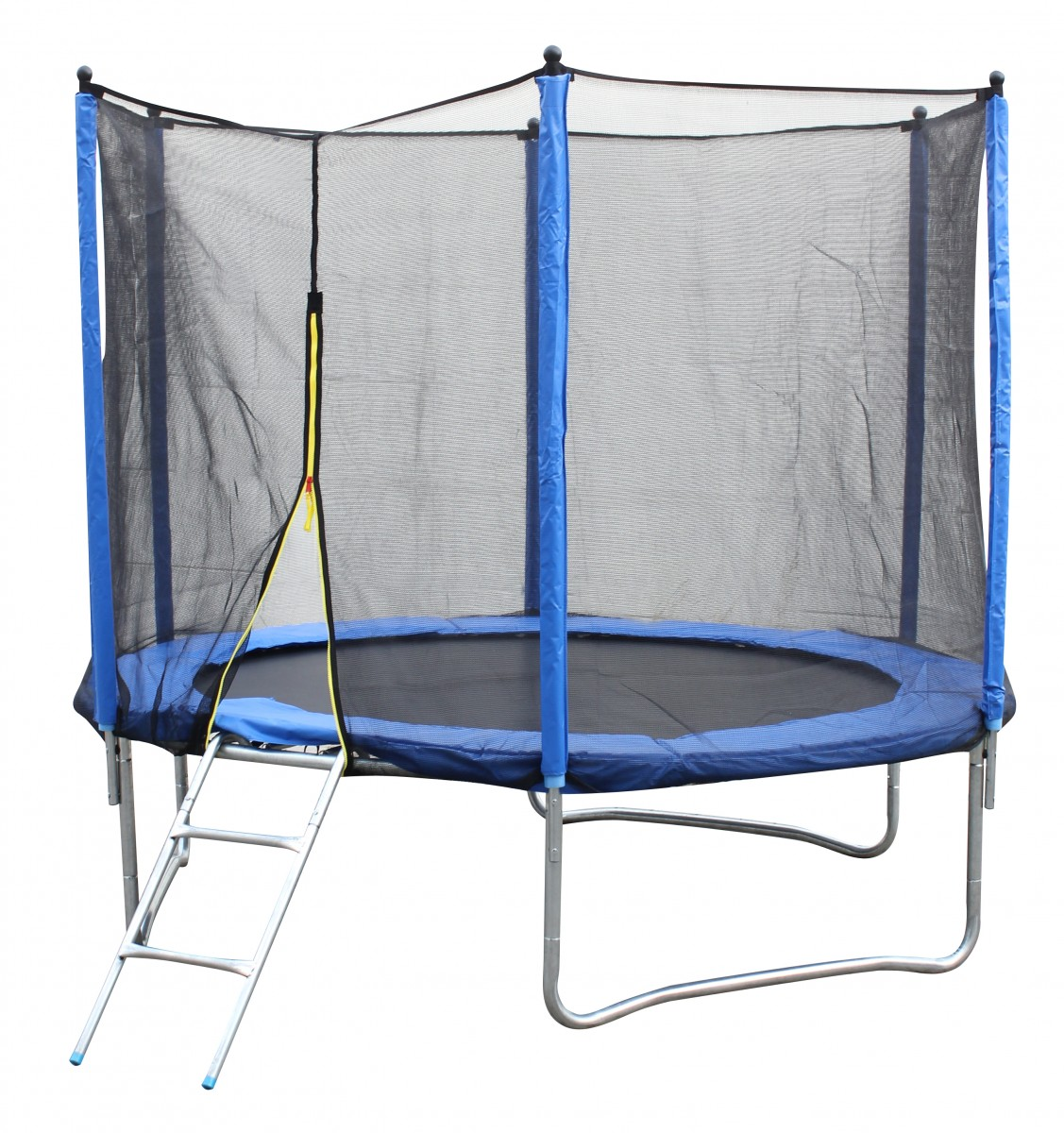 finebuy trampolin 244cm gartentrampolin komplettset leiter sicherheitsnetz ebay. Black Bedroom Furniture Sets. Home Design Ideas