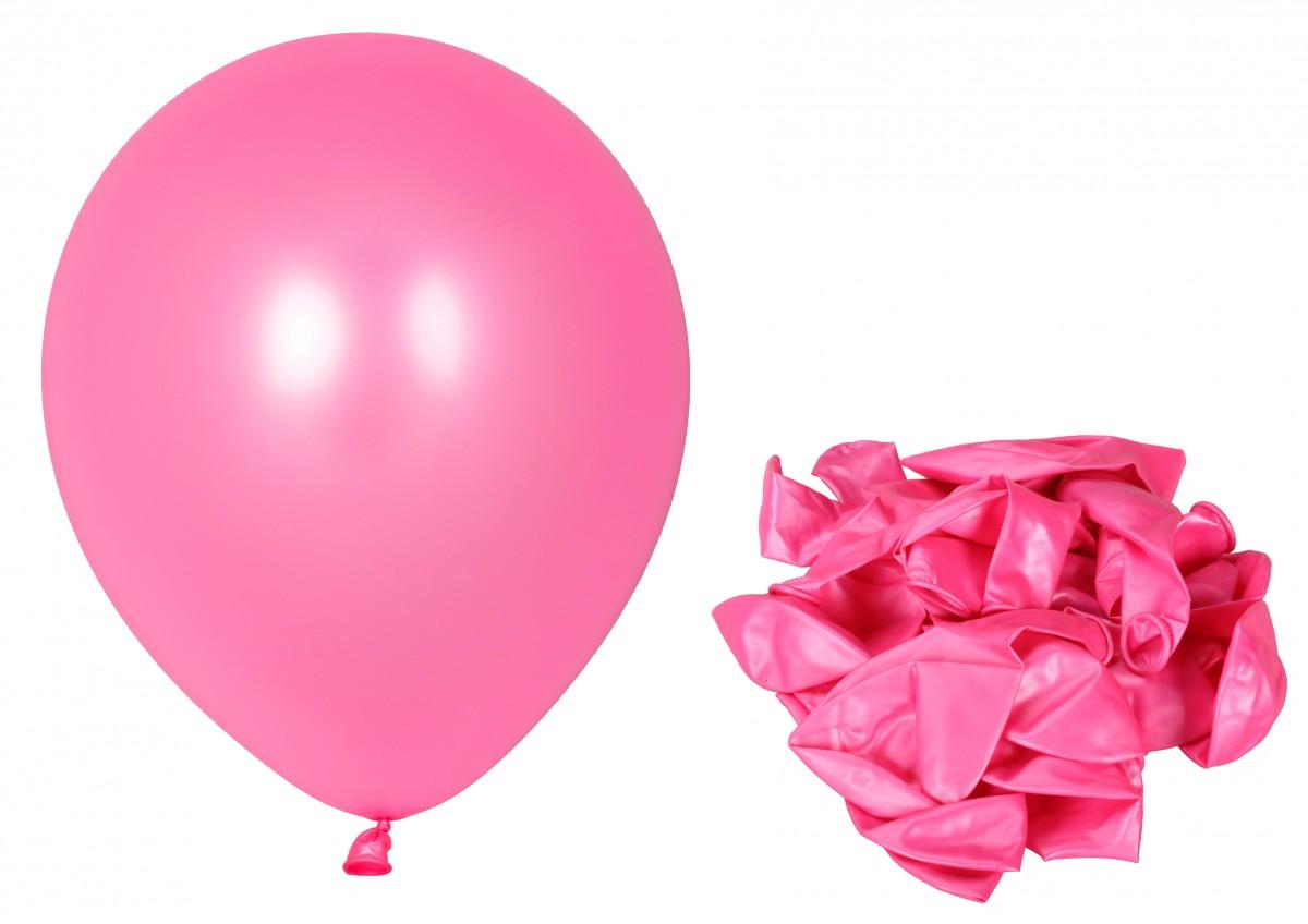 100 luftballons pink partyballons 30 5cm ballons fest feier helium metallic ebay. Black Bedroom Furniture Sets. Home Design Ideas