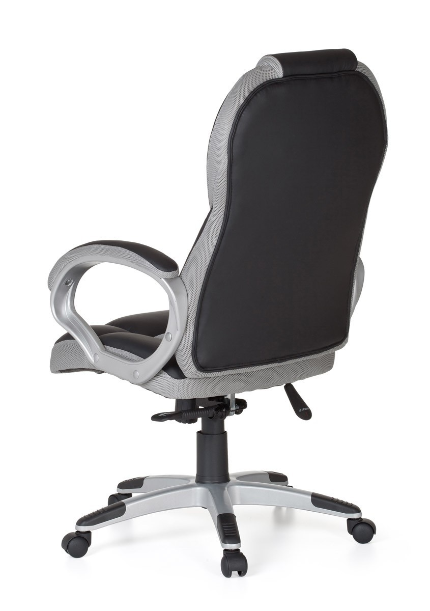 FineBuy RACE Sport Executive Office Swivel Desk Chair High Back PU Leather Gr