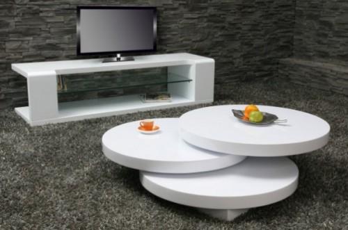 Design lounge style couchtisch tisch mulitpuk 80cm rund ebay for Design lounge tisch
