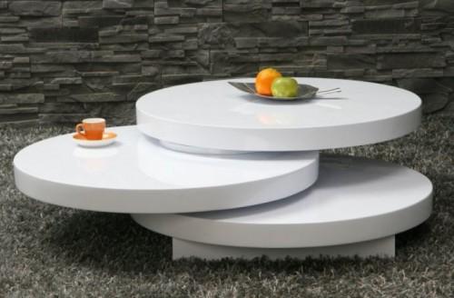 Design Lounge Style Couchtisch Tisch MulitPuk 80cm rund  eBay