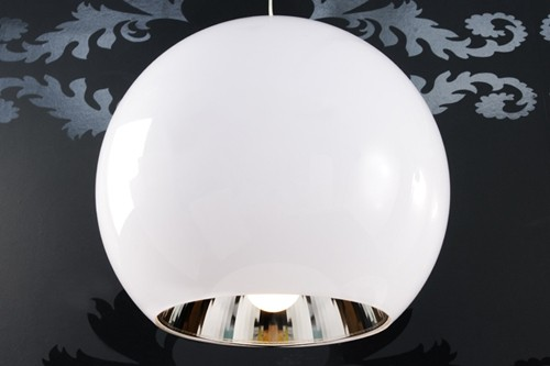 amstyle design h ngeleuchte big ball kugel lampe weiss h ngelampe kugelleuchte ebay. Black Bedroom Furniture Sets. Home Design Ideas