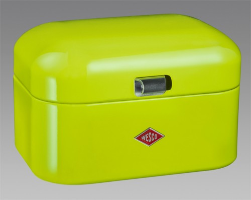 wesco retro design brotkasten brotbox gr n neu kuli ebay. Black Bedroom Furniture Sets. Home Design Ideas
