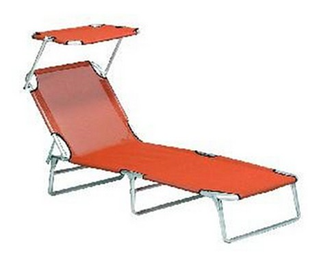 siena garden dreibeinliege liege mit sonnendach orange. Black Bedroom Furniture Sets. Home Design Ideas