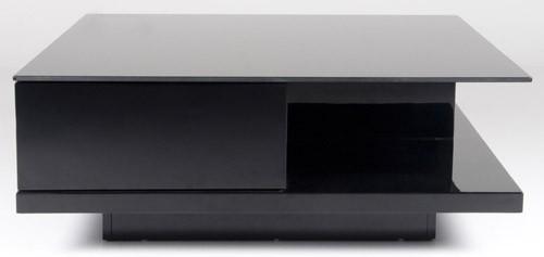 Design couchtisch glas schwarz wohnzimmertisch 100x100