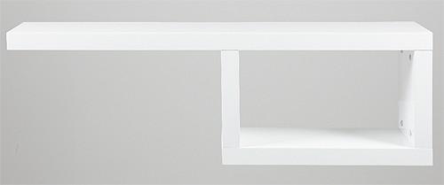design regal 120 x 25 cm wandregal wei hochglanz neu ebay. Black Bedroom Furniture Sets. Home Design Ideas