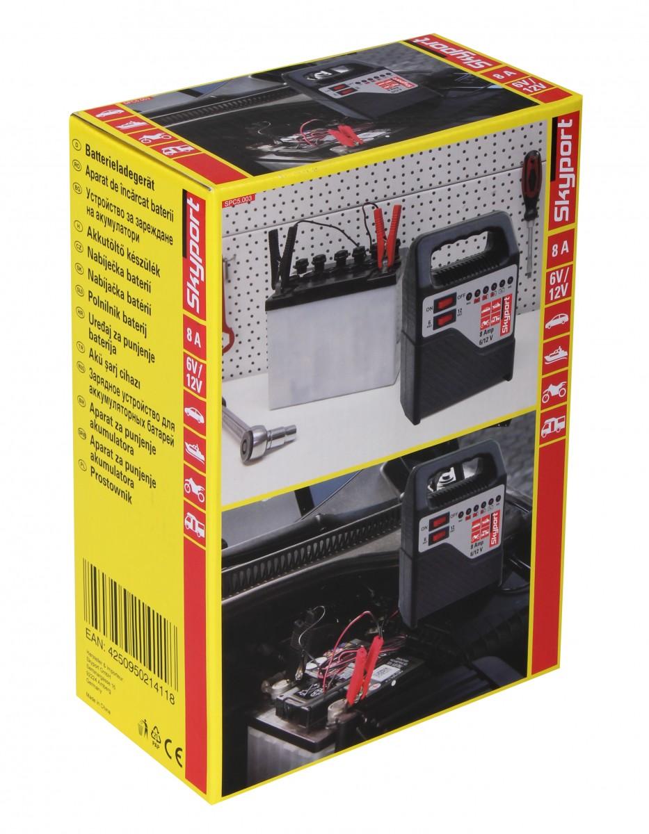 skyport batterie ladeger t 6v 12v 8a mit. Black Bedroom Furniture Sets. Home Design Ideas