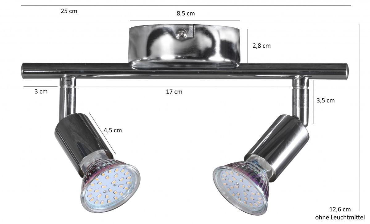 2 flammig led deckenlampe wandlampe spot beleuchtung lampe leuchte neu eek a ebay. Black Bedroom Furniture Sets. Home Design Ideas