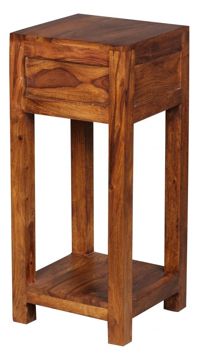 Finebuy beistelltisch massiv holz sheesham 68cm hoch for Beistelltisch 65 cm hoch