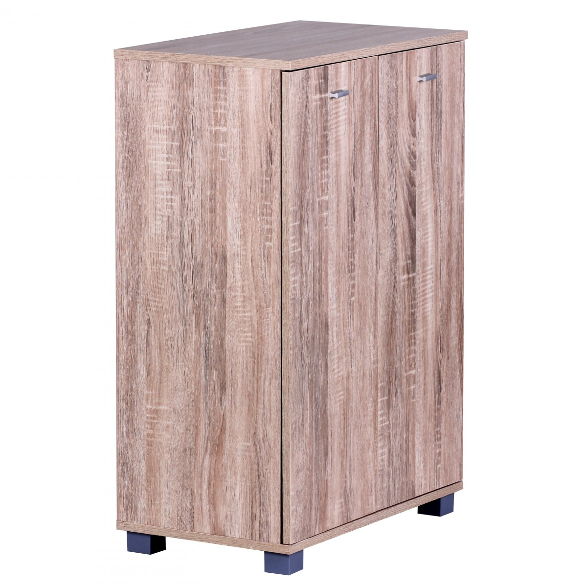 wohnling schuhschrank 2 t rig 60 x 90 x 35 cm sonoma 12 paar schuhe 38333. Black Bedroom Furniture Sets. Home Design Ideas