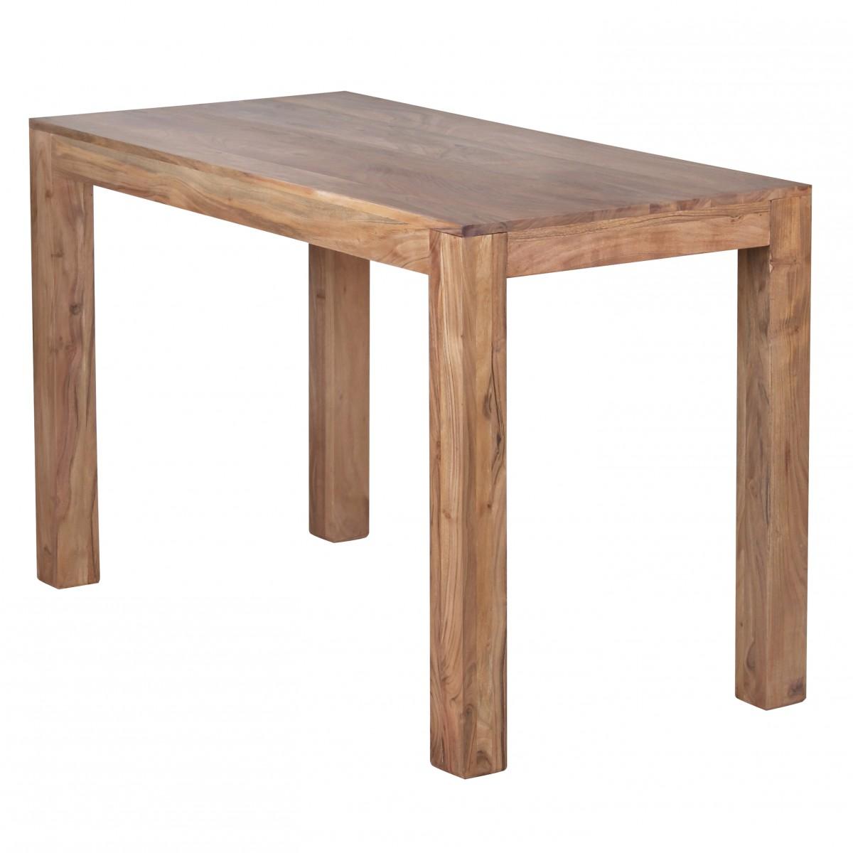 Wohnling esstisch massivholz akazie 120 cm esszimmer tisch for Esstisch 120