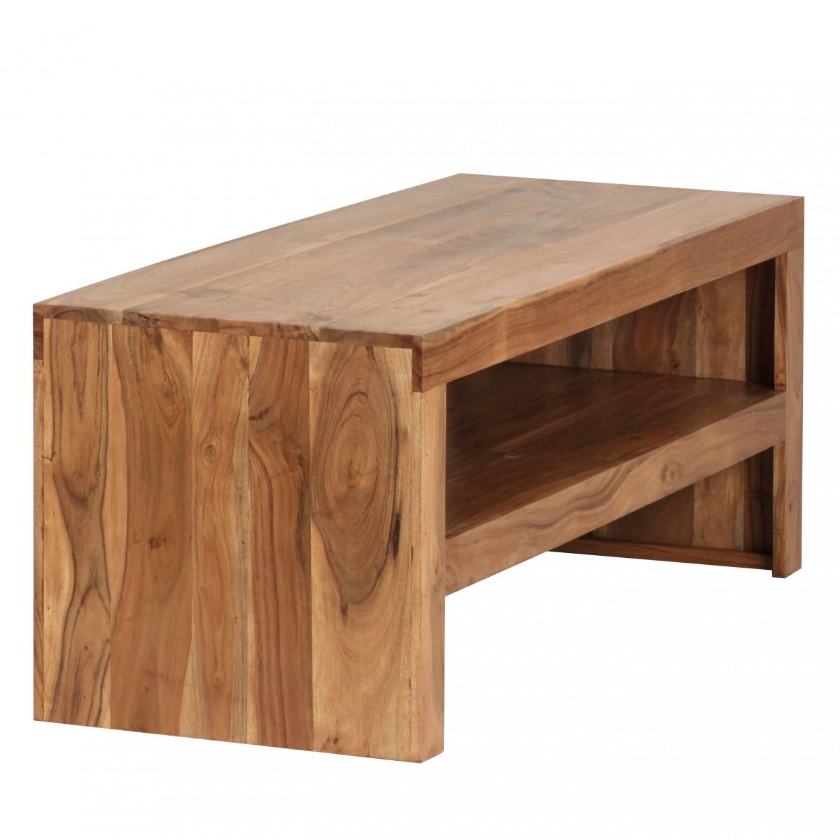 wohnling couchtisch massiv holz durban akazie 110 cm breit wohnzimmer tisch design braun. Black Bedroom Furniture Sets. Home Design Ideas