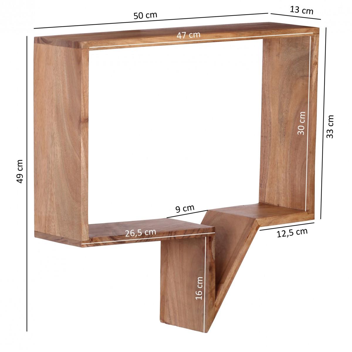 wohnling 2er set wandregale massivholz akazie regal wand. Black Bedroom Furniture Sets. Home Design Ideas