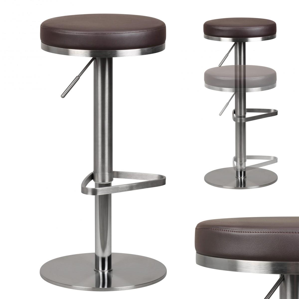 barhocker wohnling durable m7 edelstahl geb rstet braun 38833. Black Bedroom Furniture Sets. Home Design Ideas
