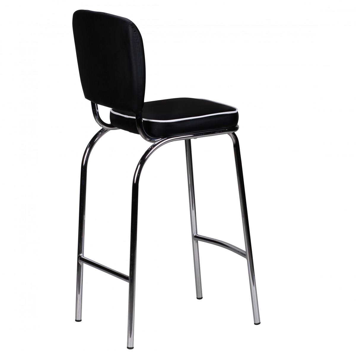 wohnling barstuhl american diner 50er retro schwarz wei. Black Bedroom Furniture Sets. Home Design Ideas