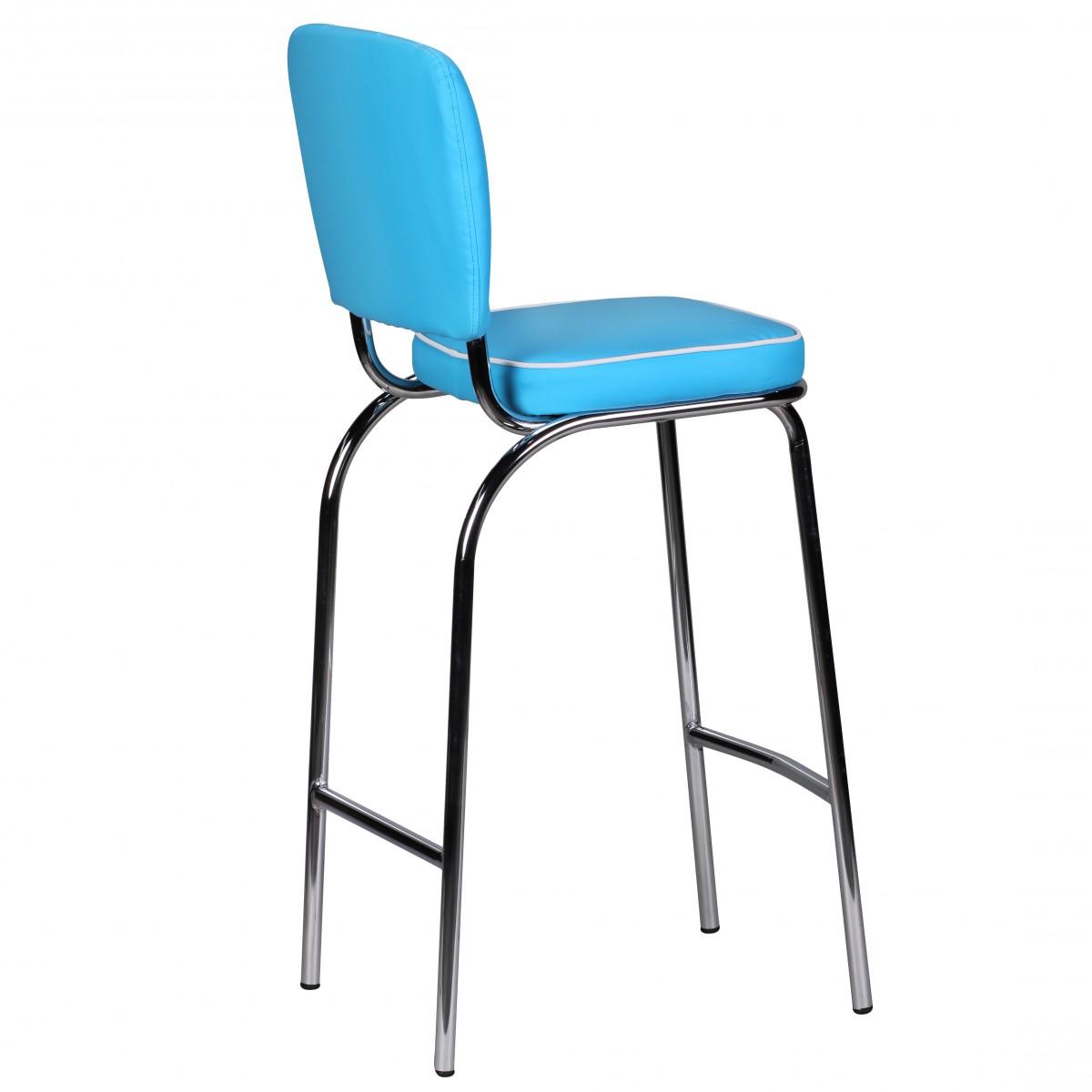 wohnling barstuhl american diner 50er retro blau wei. Black Bedroom Furniture Sets. Home Design Ideas