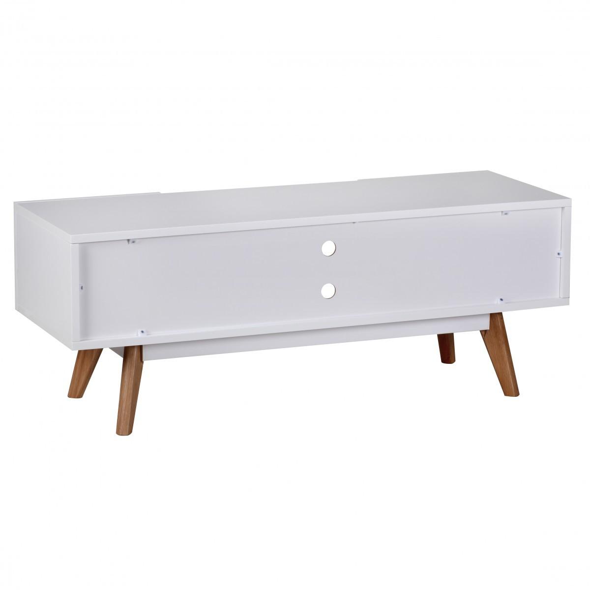 finebuy retro tv board wei matt f e eiche 40054. Black Bedroom Furniture Sets. Home Design Ideas