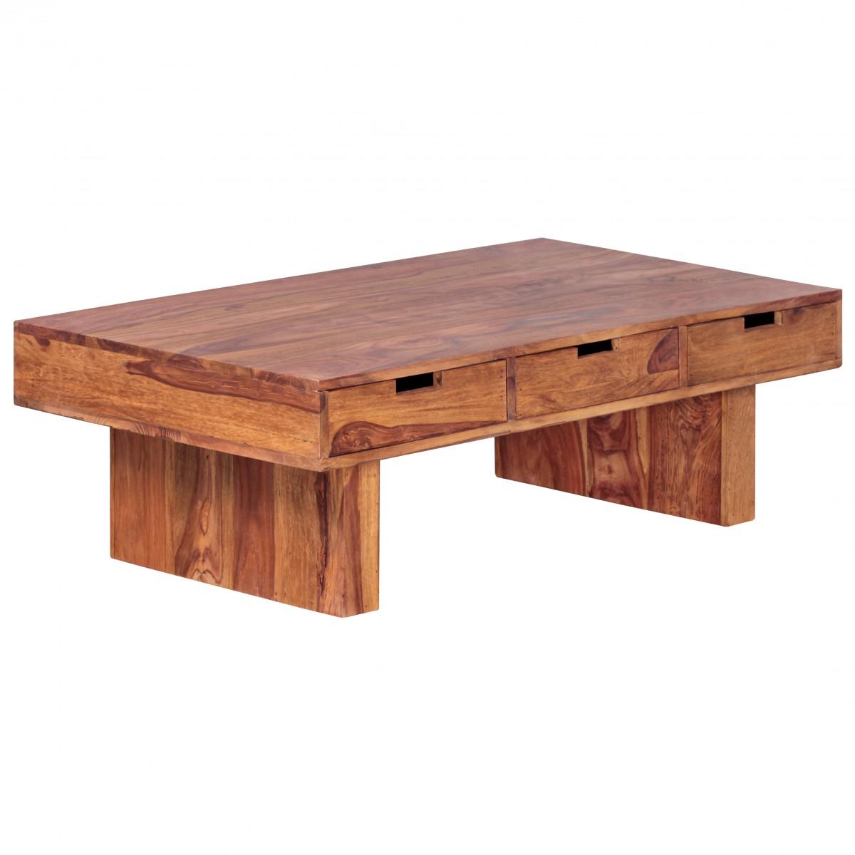 Wohnling couchtisch massivholz sheesham design wohnzimmer tisch ...