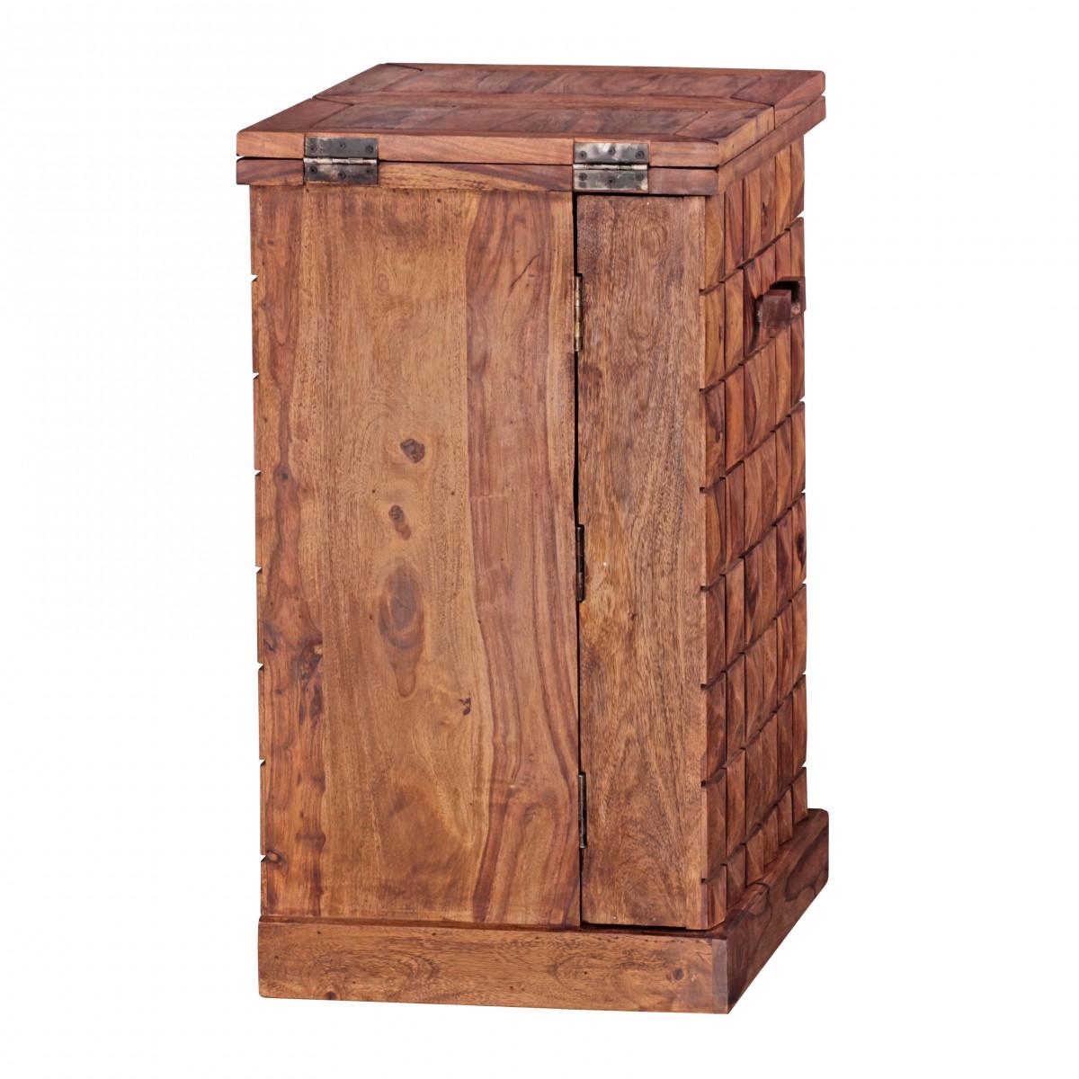 wohnling hausbar massivholz sheesham weinbar ausklappbar vitrine landhausstil barschrank. Black Bedroom Furniture Sets. Home Design Ideas