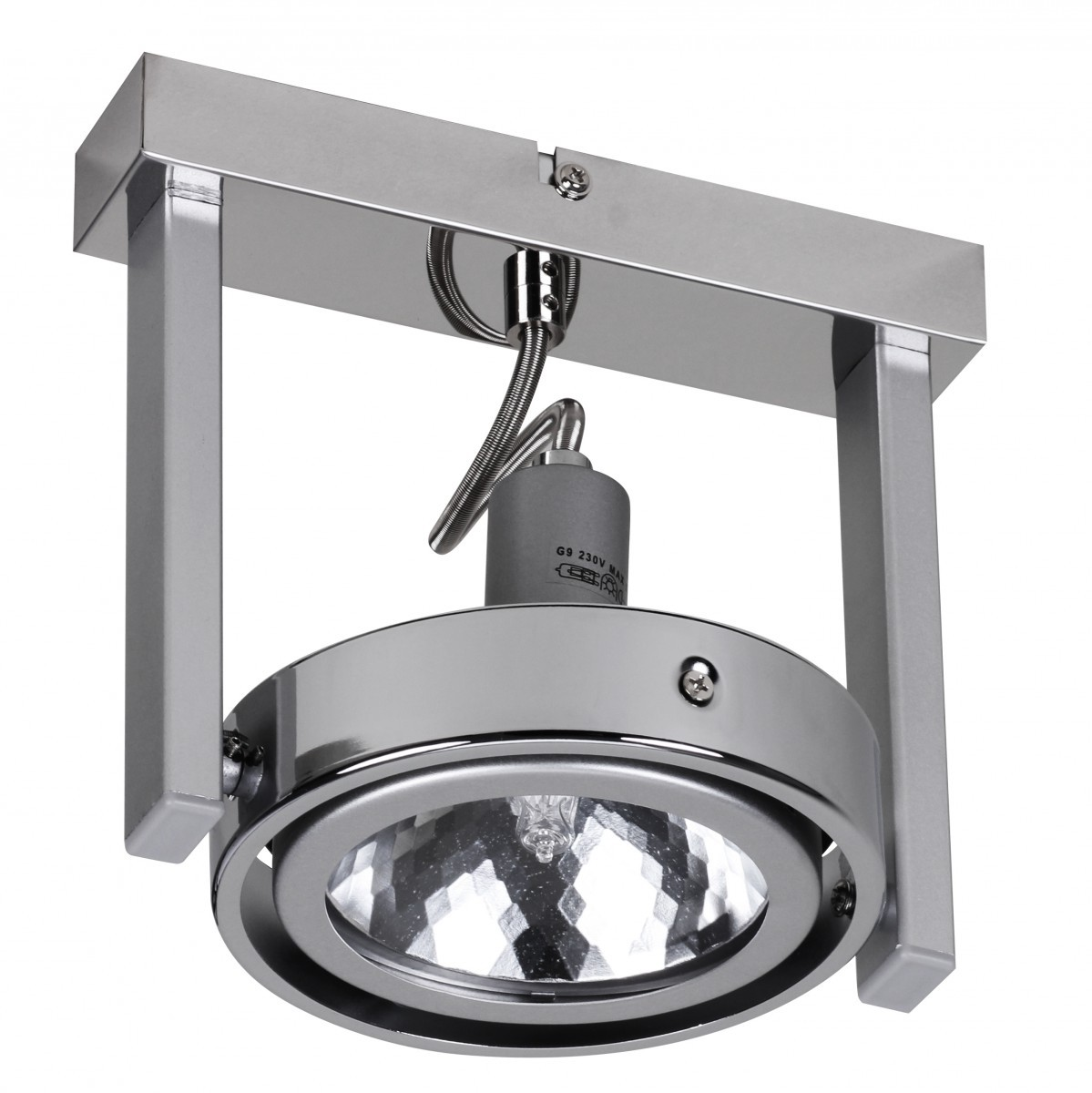 finebuy design deckenlampe spot alu chrom 1 flammig g9 52w eek c 40362. Black Bedroom Furniture Sets. Home Design Ideas