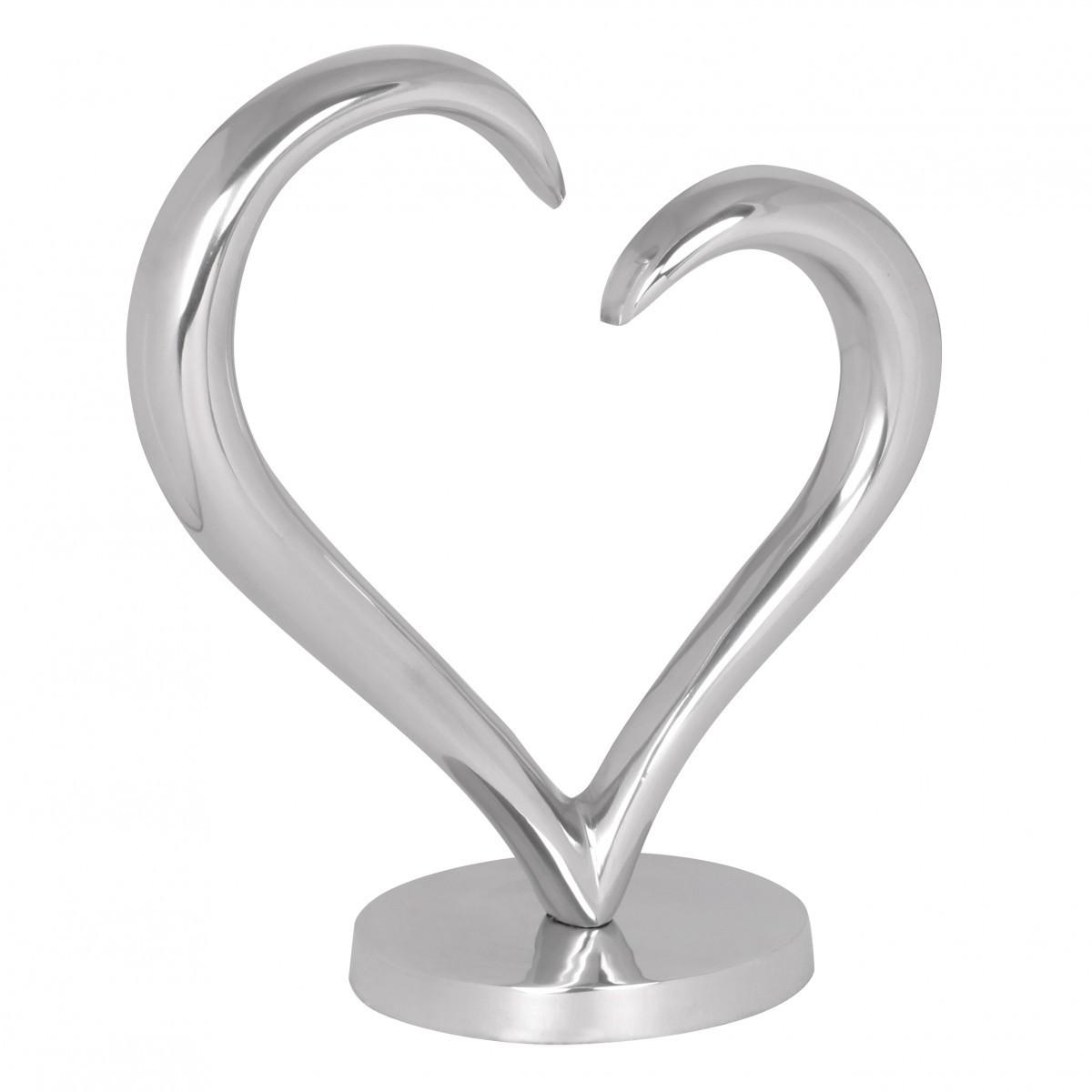 Finebuy design deko herz aus aluminium skulptur farbe for Deko aus silber