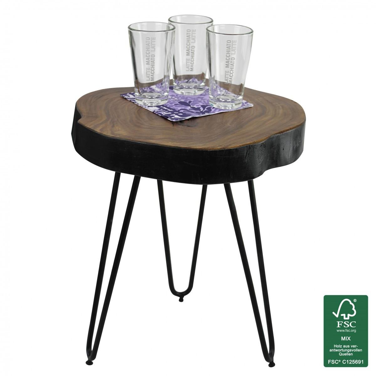 finebuy massivholz sheesham beistelltisch 35 x 35 cm 40439. Black Bedroom Furniture Sets. Home Design Ideas